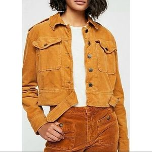 Free People Everlyn Suede Cropped Moto Jacket